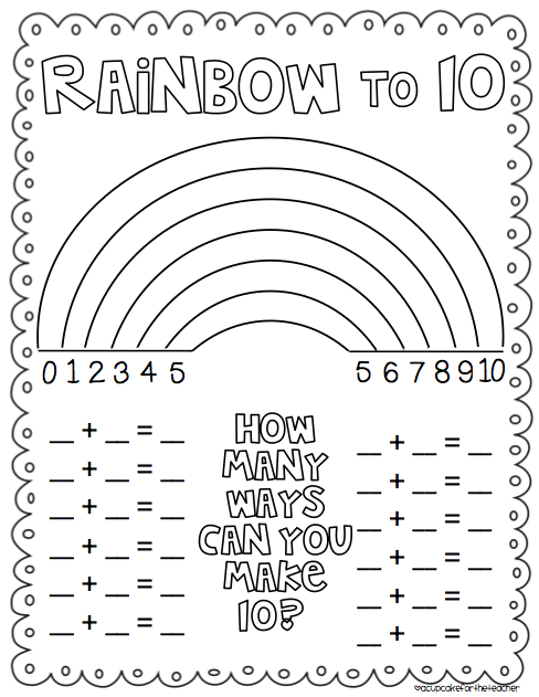 number bond 100 Colouring Pages (page 2)